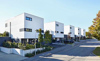 archiplan GmbH bauteam lösung mit acht gebäuden