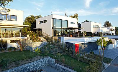 archiplan GmbH skulpturales haus mit büro